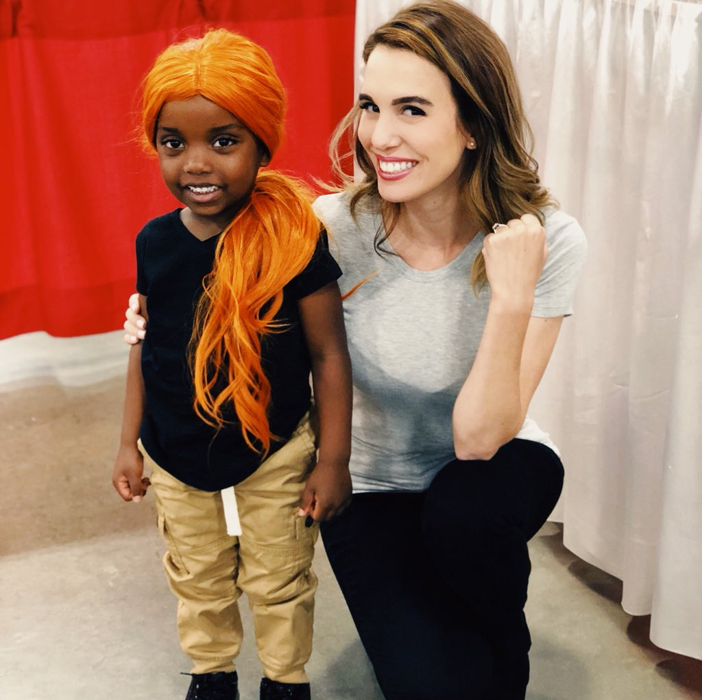 I love my lil's #KimPossible @MotCityComicCon