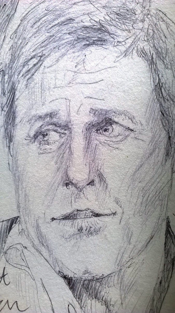 Looking forward to #AVeryEnglishScandal Tonight #BBC1 9pm Excellent cast including #HughGtant and #BenWhishaw  TV pause #Sketch in #Biro #Ink  #art #illustration<br>http://pic.twitter.com/WXtZDWMVoA
