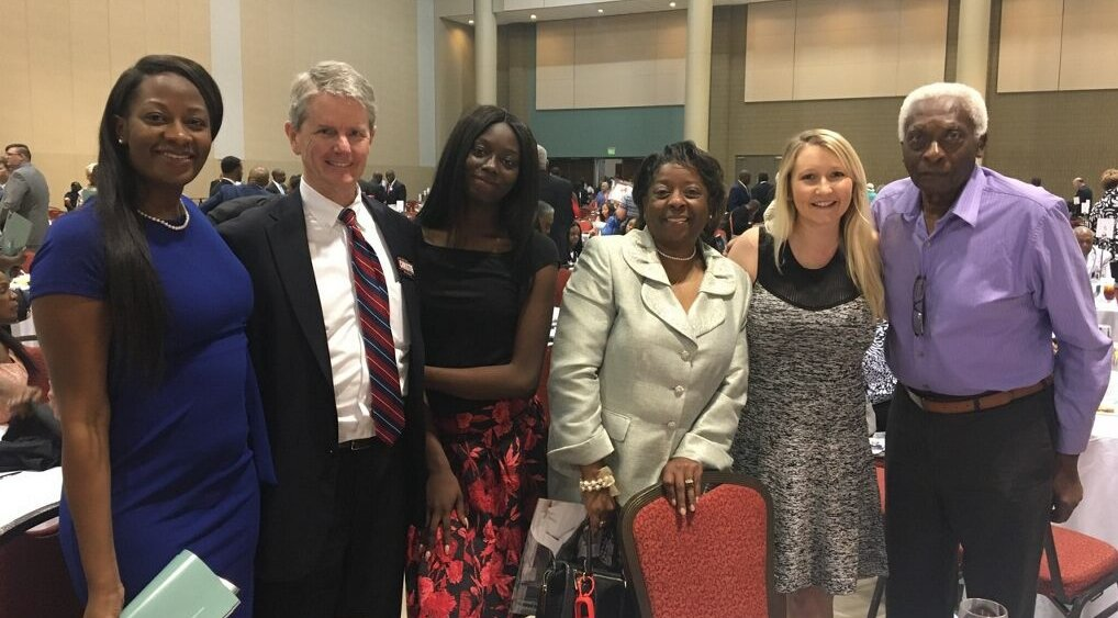 Saturday, May 19, 2018, the Alabama Democratic Conference honored me; it endorsed me for Alabama Attorney General. Thank you, Dr. Joe Reed and ADC members. #alpolitics #Christie4AL<br>http://pic.twitter.com/eBOrBY0vGF