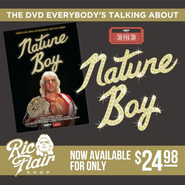 Don't Forget To Pick Up Your Copy Of My 30 For 30 On RicFlairShop.com! WOOOOO!