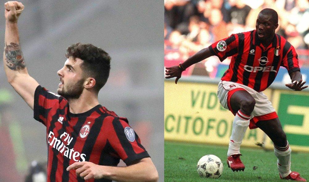 Patrick Cutrone lidera al Milan con 10 goles en @SerieA_TIM   La última vez que un jugador del #Milan fue máximo goleador del club en liga con 10 goles fue en 1997/98 (George Weah)