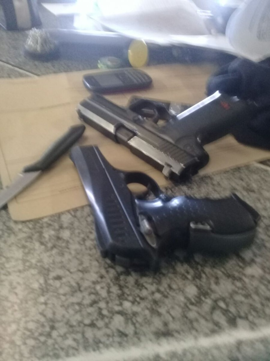 #sapsGP Swift reaction by Police leads to the arrest of two armed robbers  in Olievenhoutbosch on 19/05. #CrimeMustFall NP https://t.co/2fJwdtnoZX ...