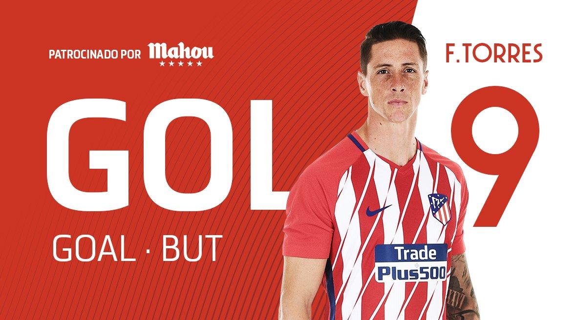 ⏱ 61' | 2-1 |  ⚽️¡GOL, GOL, GOL! ¡ DOBLEEEEEEEEEEEEEETE de @Torres! #AtletiEibar #AúpaAtleti