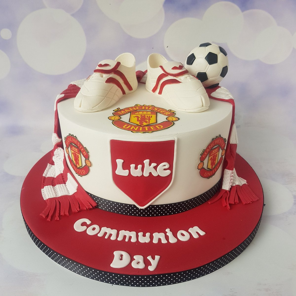 lily belles cakes on twitter manchester united cake for luke s communion day mufc cakes lilybellescakes lily belles cakes on twitter