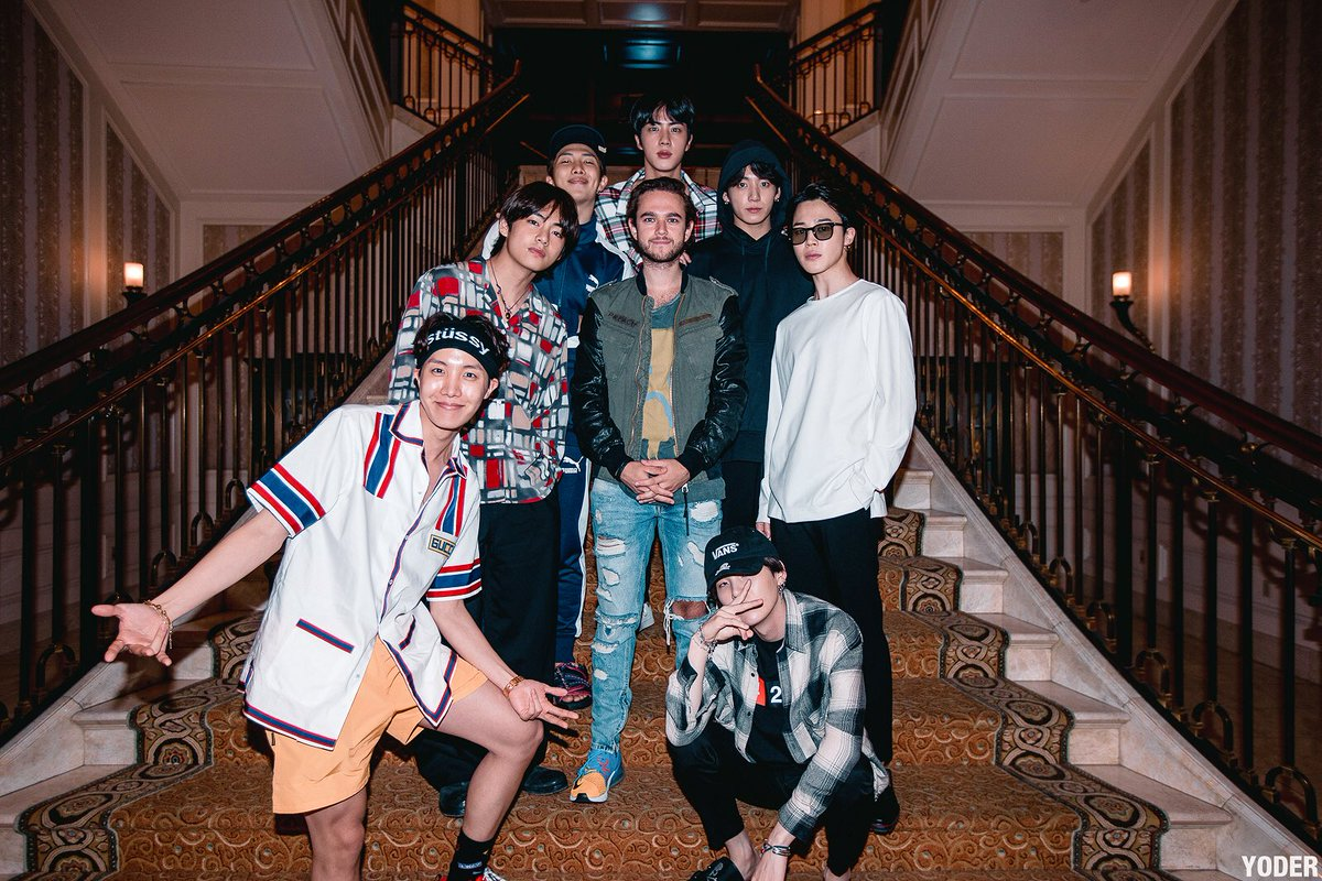 IN THE MIDDLE OF @BTS_twt ! #BTSarmy  (📷: @yoderproduction)