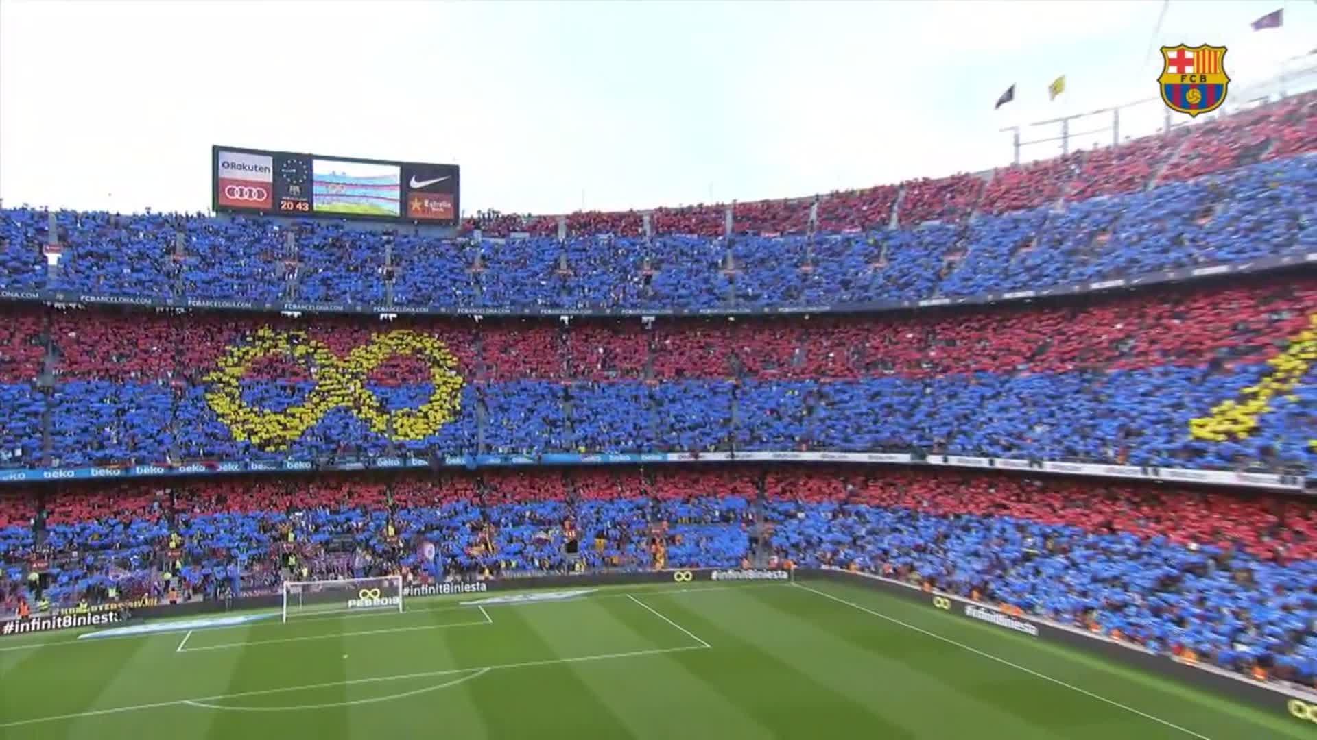 �� Camp Nou ��❤  #infinit8iniesta https://t.co/1Y1vkQyD3G