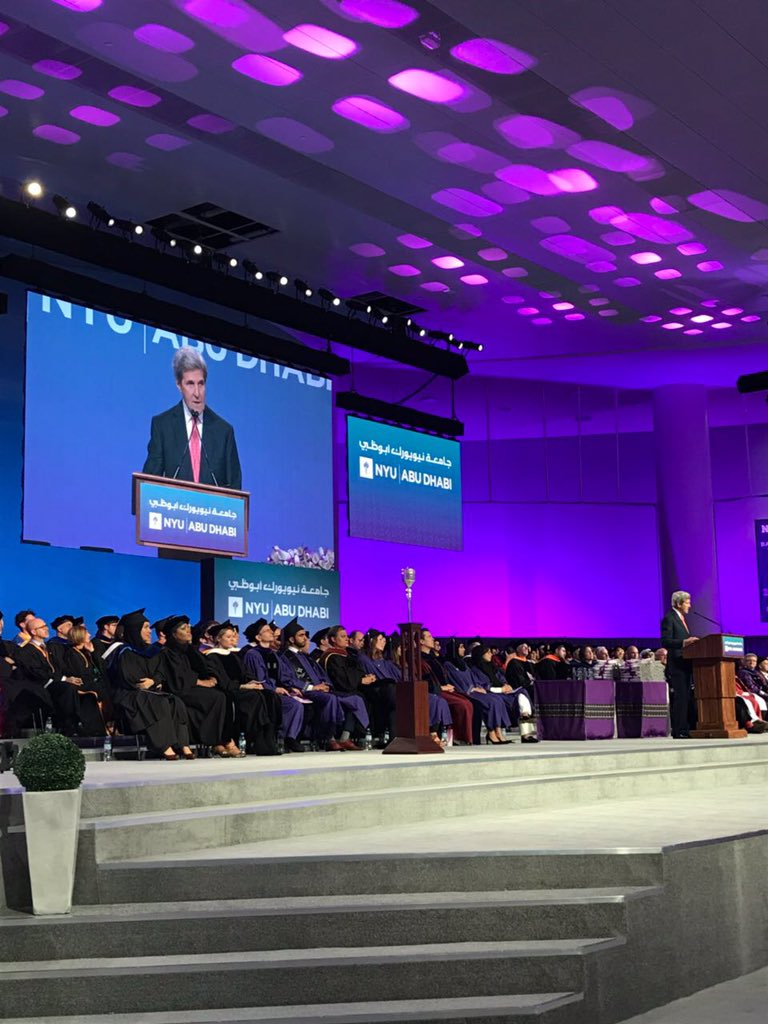 WATCH LIVE NOW NYUAD celebrates its fifth Commencement and the remarkable Class of 2018  https:// bit.ly/2KGwc78  &nbsp;   #NYUAD2018 #myNYUAD #CongratagradNYU <br>http://pic.twitter.com/D1TWPDlLpd