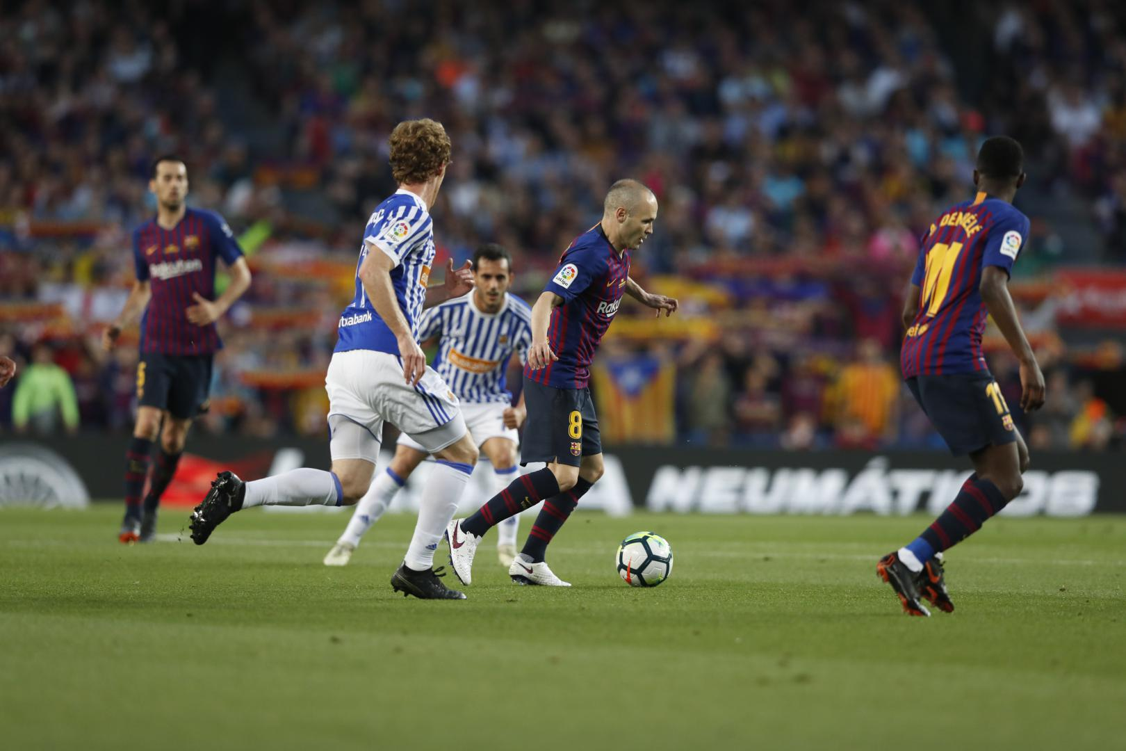20: Barça have the upper hand but no goals yet at Camp Nou! #BarçaRealSociedad (0-0) https://t.co/cBJQcRaPYY