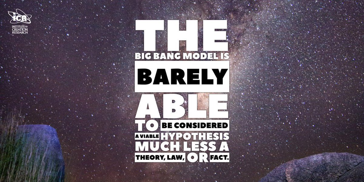 The Big Bang model is barely able to be considered a viable hypothesis much less a theory, law, or fact.  Excess Lithium in Milky Way Halo Stars:  http://www. icr.org/article/lithiu m-milky-way-halo-stars &nbsp; …   #Astronomy #Science <br>http://pic.twitter.com/ZfNdf5986W
