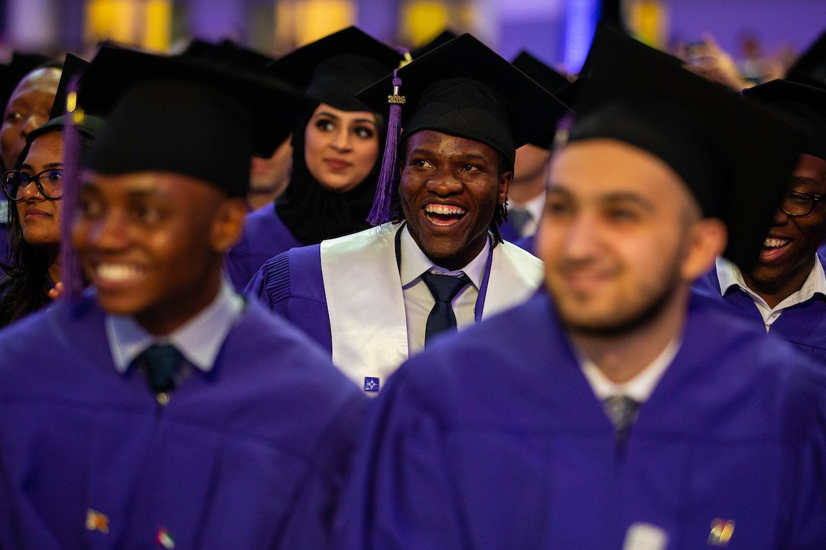 Full video of NYUAD&#39;s fifth Commencement ceremony available here:  https:// nyuad.nyu.edu/en/about/comme ncement/class-of-2018.html &nbsp; …  #NYUAD2018 #myNYUAD #congratagradNYU <br>http://pic.twitter.com/tEFg0krPuX