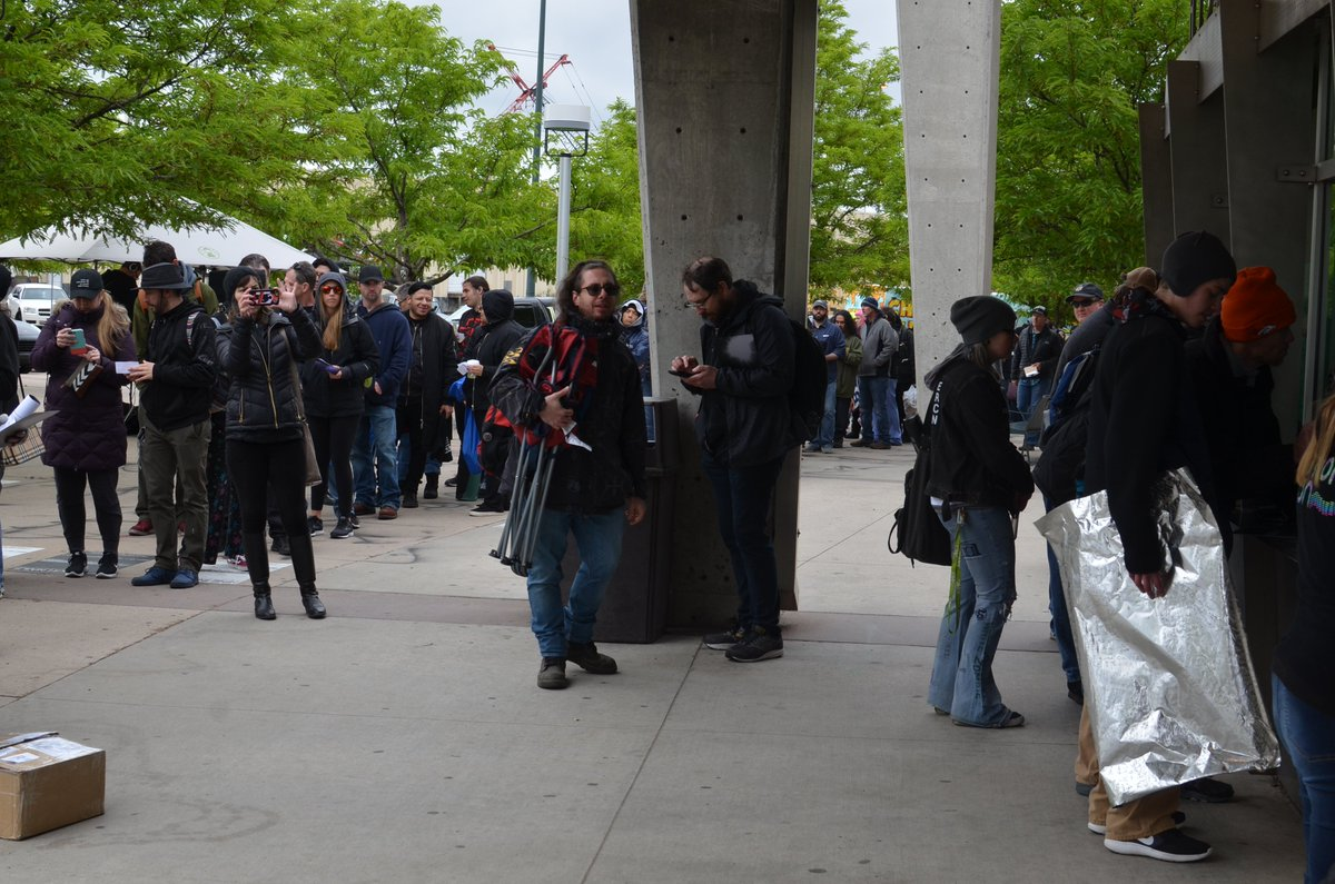 .@nineinchnails fans represented at @DenverColiseum this morning! ✊🤘
