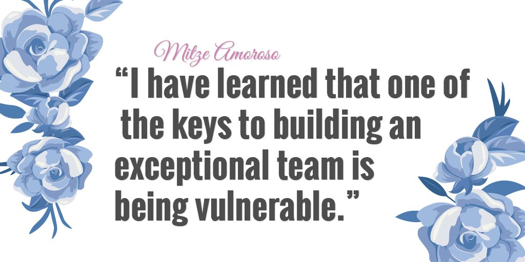 It takes being vulnerable to build an exceptional team.   #MitzeAmoroso #Healthcare #CyberSecurity<br>http://pic.twitter.com/3fShaoQyAG