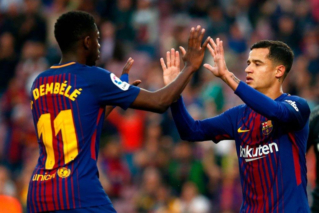 Philippe Coutinho marca su 5to gol en los últimos 3 partidos, es su 10mo gol con @FCBarcelona_es esta temporada en todas las competencias.  3er máximo goleador del equipo en todas las competencias.