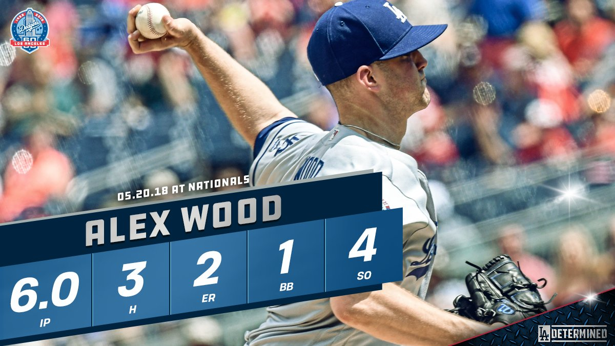 Solid day on the mound for @Awood45! #Dodgers https://t.co/0txd1RMhkr