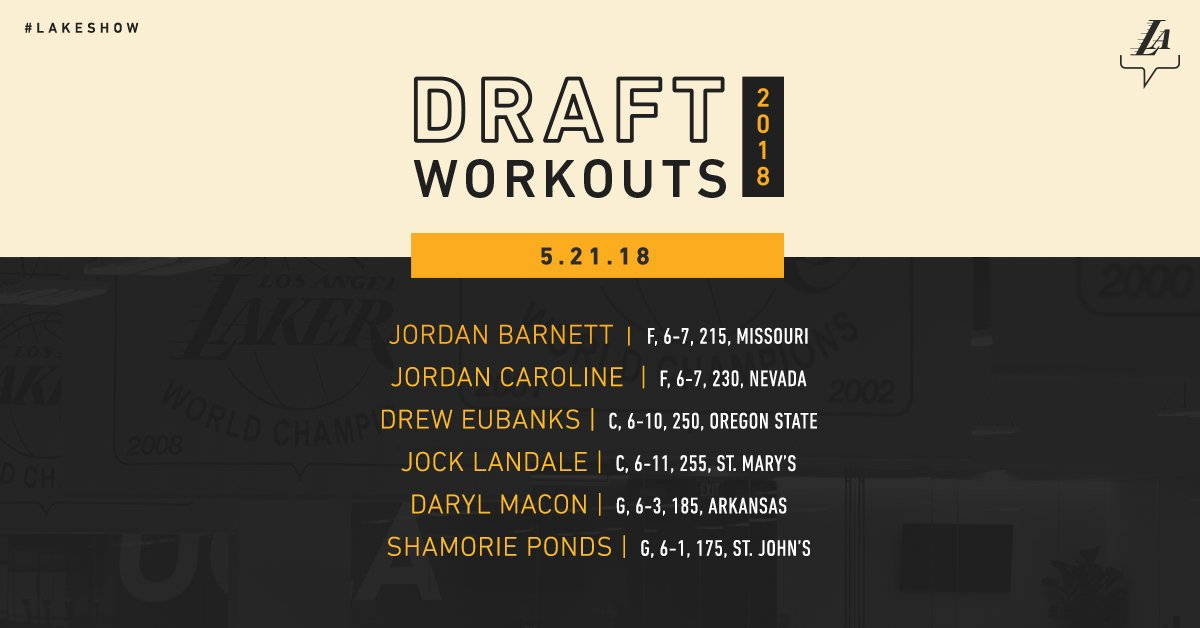 After a week in Chicago, the #LakeShow draft prep returns to the @UCLAHealthTC on Monday. 📰: on.nba.com/2wVotQE