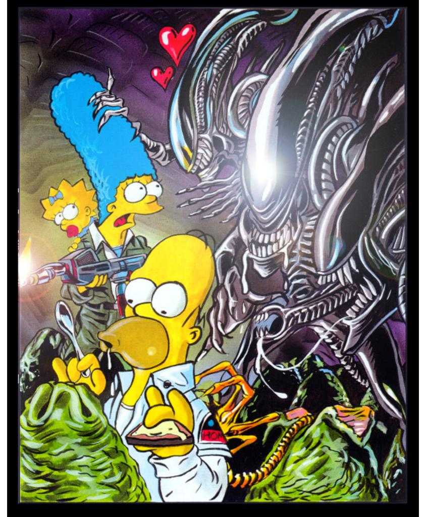 oohhhh Homer #Facehugger #Xenomorph #Xenofan #Aliens #Simpsons<br>http://pic.twitter.com/0shTQcvyCC