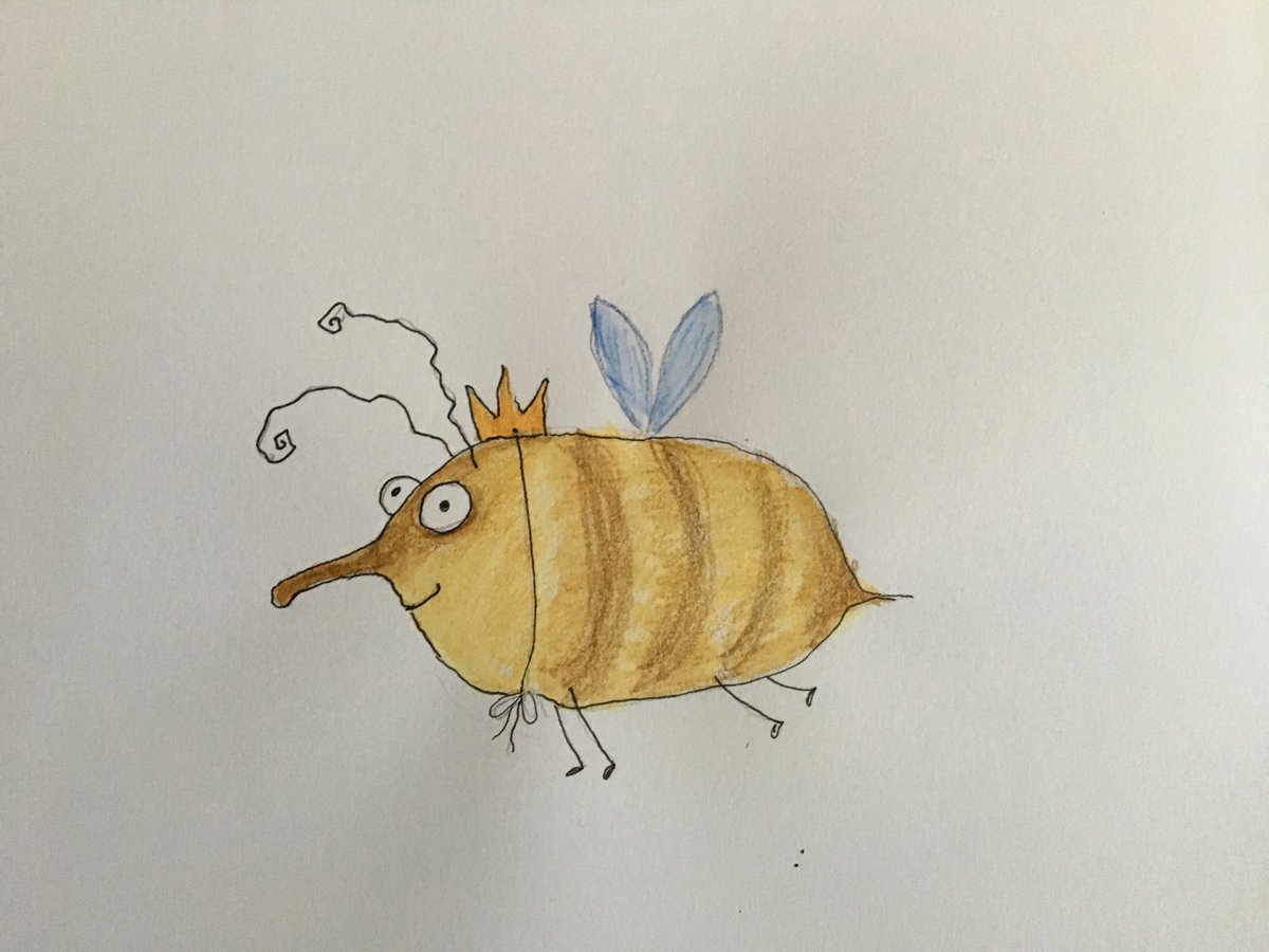 Happy #NationalBeeDay #savethebees #drawing #colorpencil #doodle #DailySketch<br>http://pic.twitter.com/isE3IALSrK