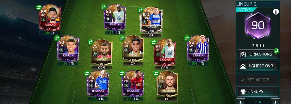 Weekend tournament squad