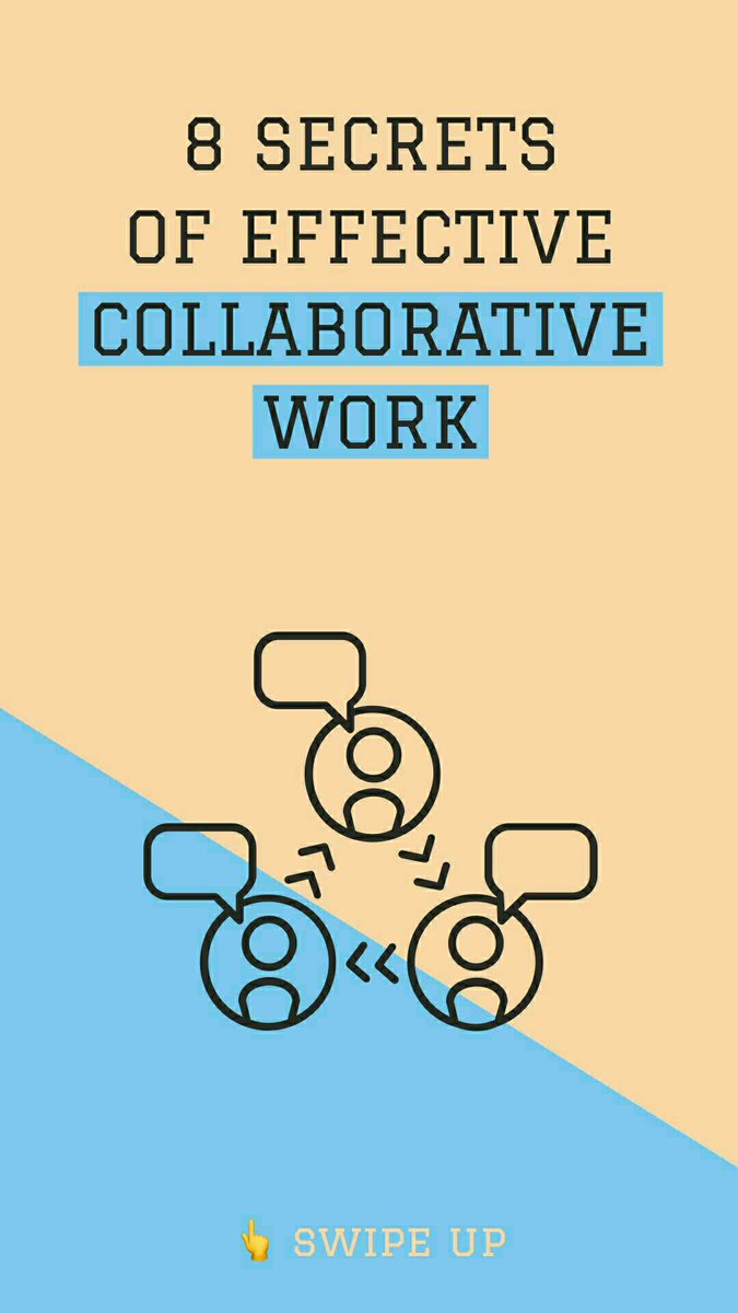 8 SECRETS OF EFFECTIVE COLLABORATIVE WORK  #startup #entrepreneur #business #success #money #entrepreneurship #marketing #businessman #motivation #wealth #ceo #startuplife #grind #love #entrepreneurlife #ambition #quote #businesswoman  #businessowner #inspiration #design <br>http://pic.twitter.com/i62StifNCC