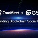 Image for the Tweet beginning: CoinMeet X GSC @gsc_socialchain achieving