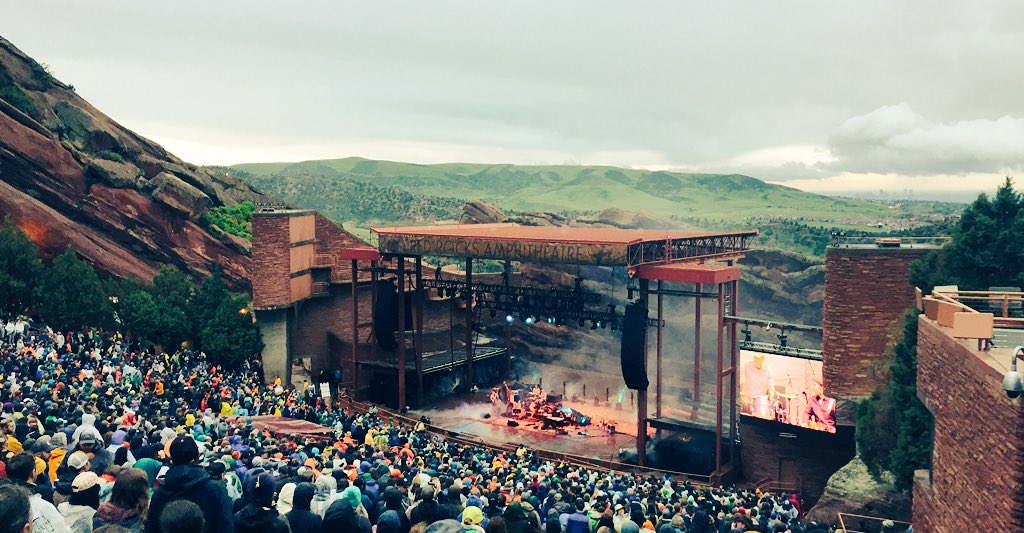 Finally made it to this special place! @RedRocksCO #elephantrevival