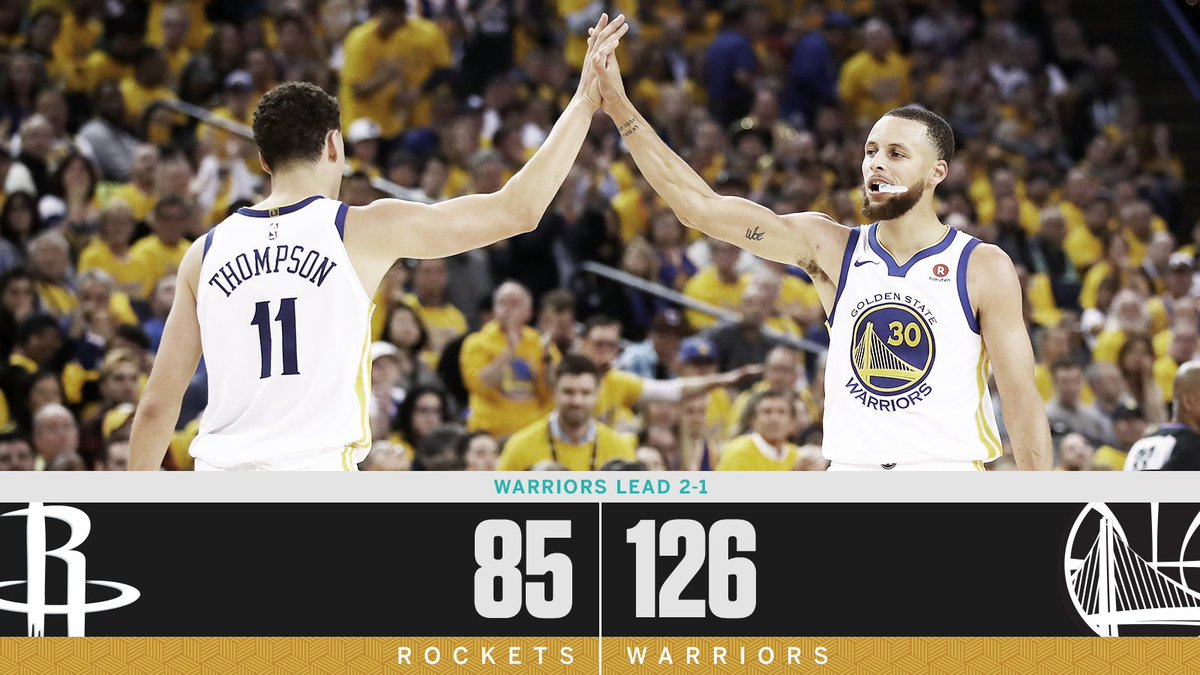 The Warriors made it rain.