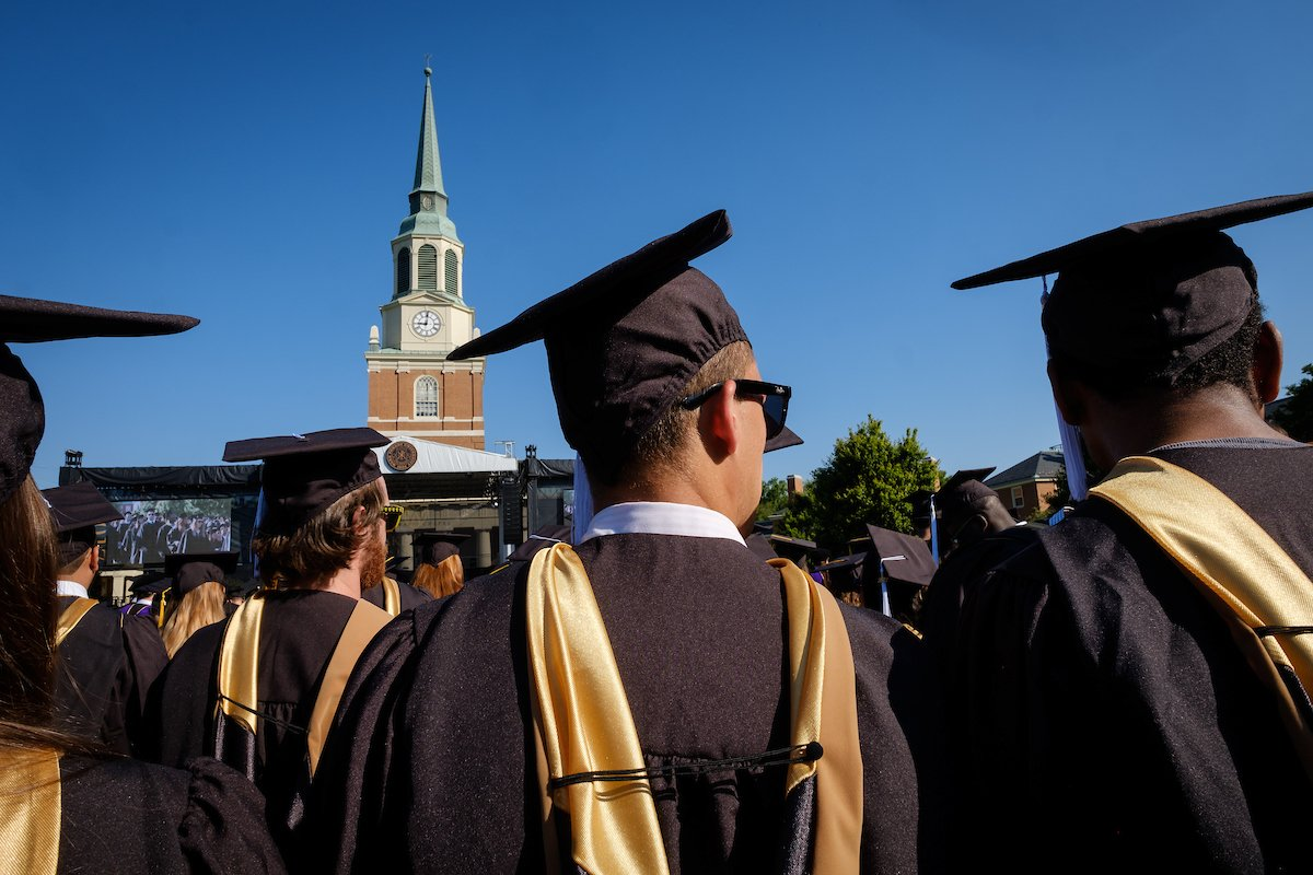 #WFU's 2018 commencement ceremony will take place as originally scheduled on Hearn Plaza tomorrow, May 21, at 9 a.m. Guests and media are encouraged to bring rain gear and shoes appropriate for soggy ground conditions. More → https://t.co/S4jVTo9WGk #WFUGRAD