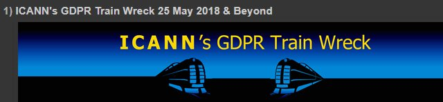 ICANN&#39;s GDPR Train Wreck 25 May 2018 &amp; Beyond  http://www. domainmondo.com/2018/05/news-r eview-icanns-gdpr-train-wreck-25.html &nbsp; …  #INTA2018 #domains #DomainNames #trademarks #ICANN62 #ICANN #DataProtection #privacy #CyberSecurity #EUGDPR #GDPR<br>http://pic.twitter.com/wpu7b00TRO