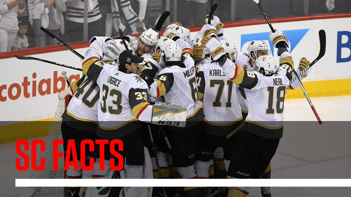 Vegas advances to the Stanley Cup only 226 days after playing their first regular-season game as an NHL franchise. #SCFacts