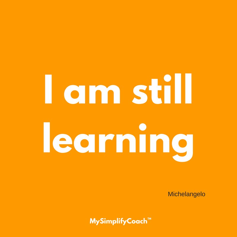 I am still learning. (Michelangelo) . . . .⠀ .⠀ .⠀ #mysimplifycoach #dailyquote #quotes #quote #quoteoftheday #wisdom #inspiration #instaquote #instaquotes #inspirationalquotes #mysimplifyquote #michelangelo<br>http://pic.twitter.com/LDz33oDuh4