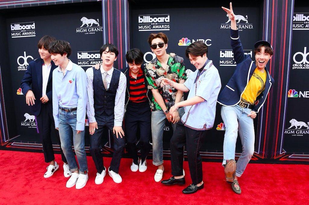.@BTS_twt on the Red Carpet at #BBMAs #BTS_BBMAs #BTS