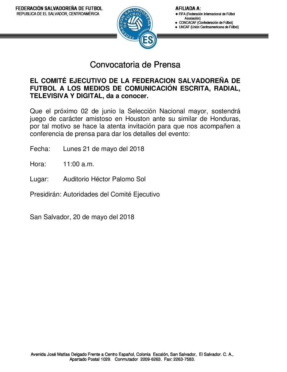 Juego amistoso contra Honduras el sabado 2 de junio del 2018. [Jorge Rodriguez sera el tecnico interno] DdrRAY_VMAEjJUh