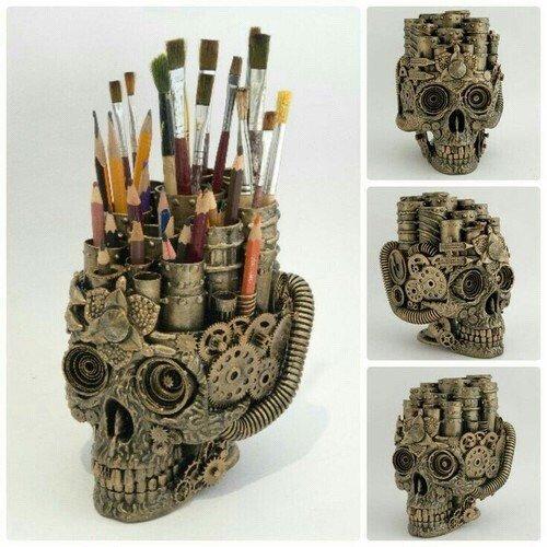 Image via We Heart It https://t.co/8zZwjxYxT4 #art #arte #diy #organization #school #skull #steampunk