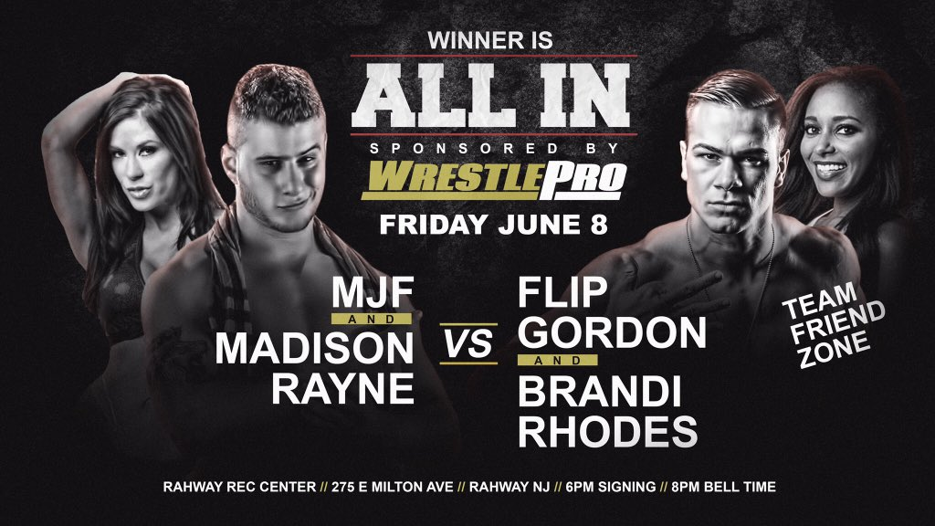 June 8th - Rahway, NJ  Winners are ALL IN!