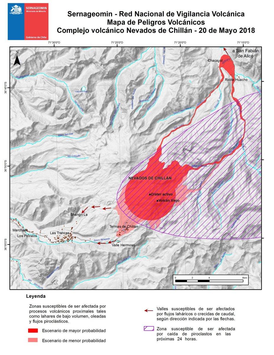 RT @onemichile Si vas al sector del volcán #NevadosDeChillán infórmate de los planes comunales de evacuación y sigue nuestras recomendaciones en https://t.co/amco5HooPC