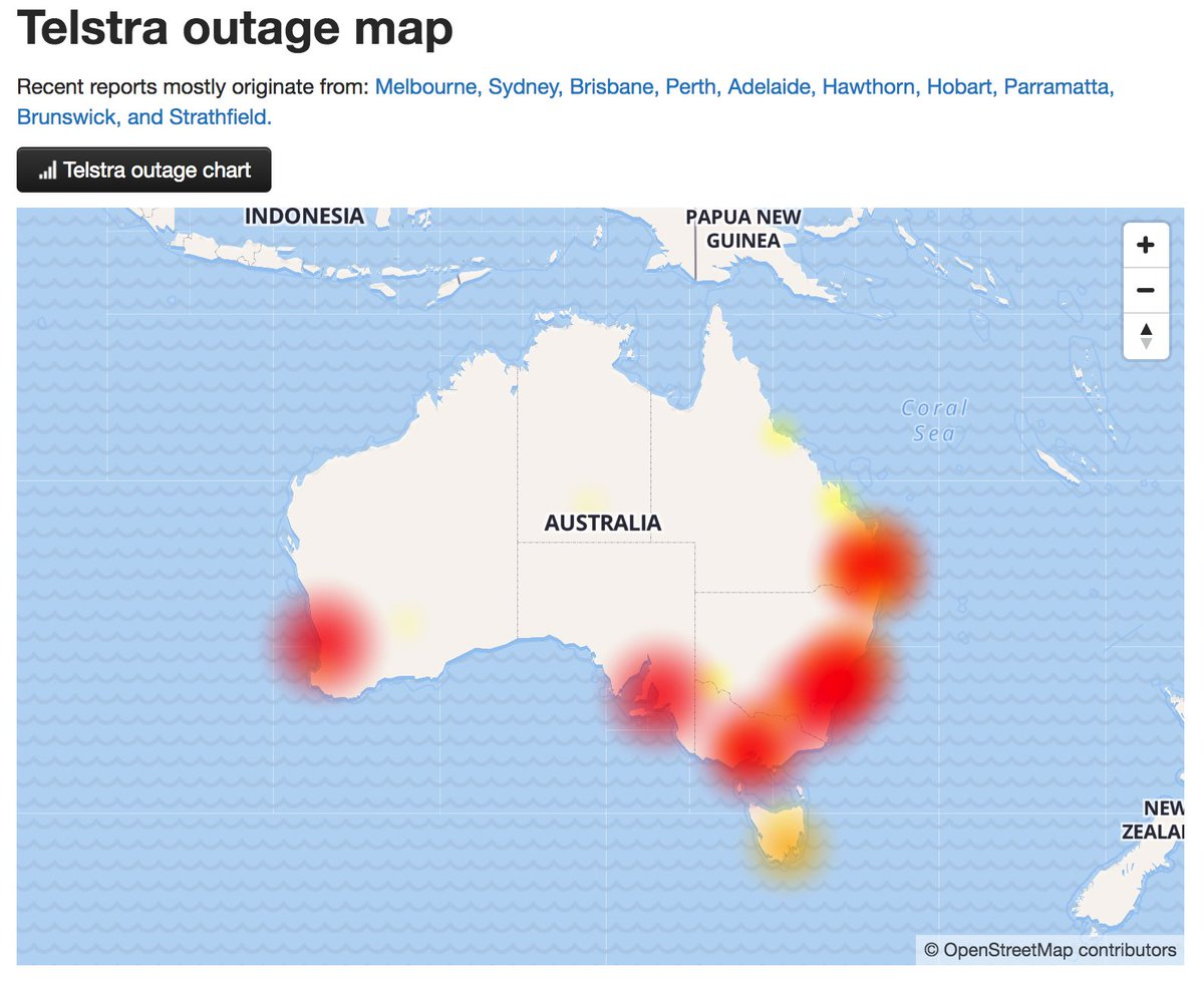 telstraoutage hashtag on Twitter