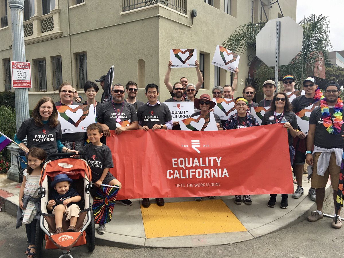 My family and I had such a wonderful time marching with @eqca in the Long Beach #Pride parade today! <br>http://pic.twitter.com/VLcOL5VwSo