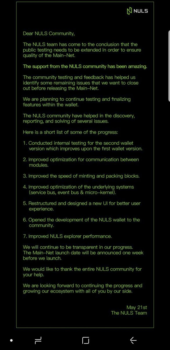 #NULS $NULS !!!  Time to sell !!!  Delay on mainnet !!!  #bitcoin #cryptocurrency #HTMLCOIN #Consensus2018 #Ethereum #BTC #Ethereum #ETH #XVG #ada #neo #trx #binance #Electroneum<br>http://pic.twitter.com/pIpEoywDtz