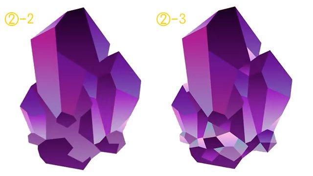 illustratorを使用したクリスタルの描き方を解説しています(*●⁰ꈊ⁰●)ノ 製作時間も32分程度と短いので、ぜひ手順を覚えて下さいね〜(*´◒`*)♫