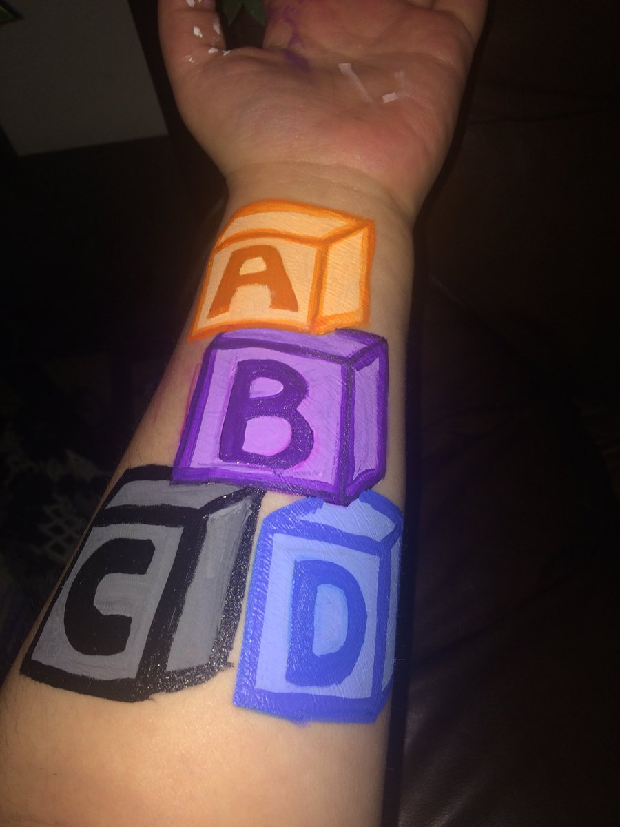 Cob Arts On Twitter My Newest Tattoo Idea In Body Art Form Cobarts Painting Letters Abcd Art Tattoos Ideas Bodyart