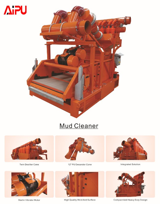 Mud cleaner with two 12 inche desander and 4 inche desilter
