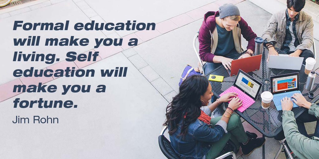 Formal education will make you a living. Self education will make you a fortune. - Jim Rohn #quote #inspiration #HypnosisFirst<br>http://pic.twitter.com/RncCGWyzgl