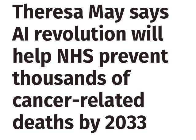 Hey, @theresa_may. You know what would also save lives and well before 2033? Proper funding of the NHS.