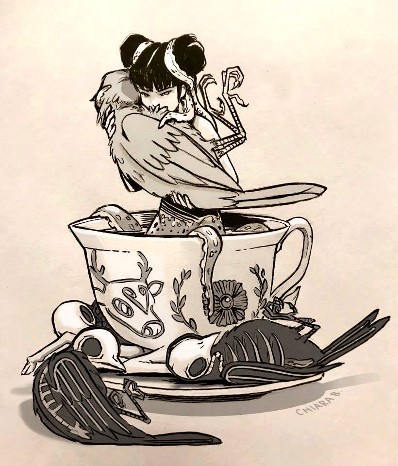 &quot;All happiness begins with a quiet breakfast.&quot; William Somerset Maugham  #drawing Chiara Bautista <br>http://pic.twitter.com/CyOizkAiGS