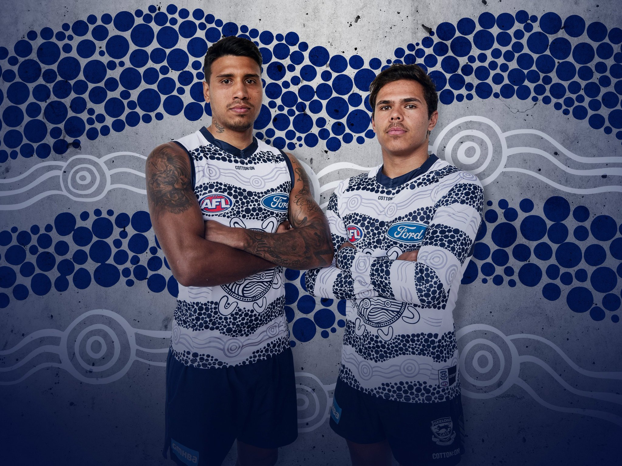 Geelong Cats On Twitter Our 2018 Indigenous Guernsey Which Will Be Worn In Rounds 10 And 11 Standproud Wearegeelong Grab Yours Https T Co Ufwr0i4u27 Https T Co C4ycgst3rq