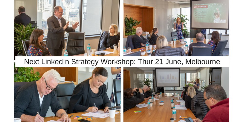 #LinkedIn is a great tool to grow your business + prof network: it doesn&#39;t need lots of time + money, just a #strategy. Like to know more? Join our 1-day LinkedIn Strategy workshop: hands-on, intensive learning on the rules of the game + how to APPLY them:  https://www. eventbrite.com.au/e/linkedin-str ategy-for-business-owners-professionals-tickets-44319774639 &nbsp; … <br>http://pic.twitter.com/XKH2556XJt
