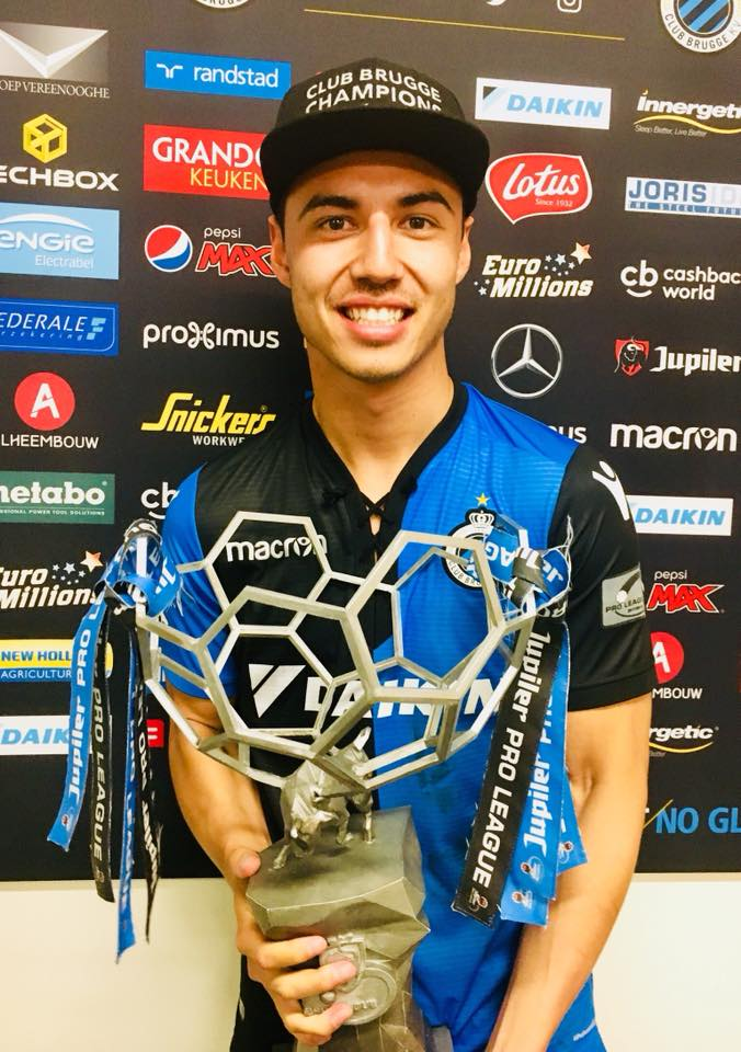Harimau Abroad On Twitter Dion Cools With The Jupiler Pro League Trophy It Is His Second League Title In Three Years With Club Brugge