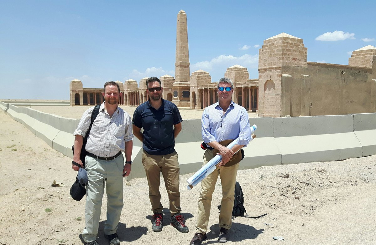 @CWGC in #Iraq #Basra The first operational working visit by our  team since 2006. The historic @CWGC #BasraMemorial commemorates 40640 Commonwealth casualties 1914-21. #AAPA #conservation
