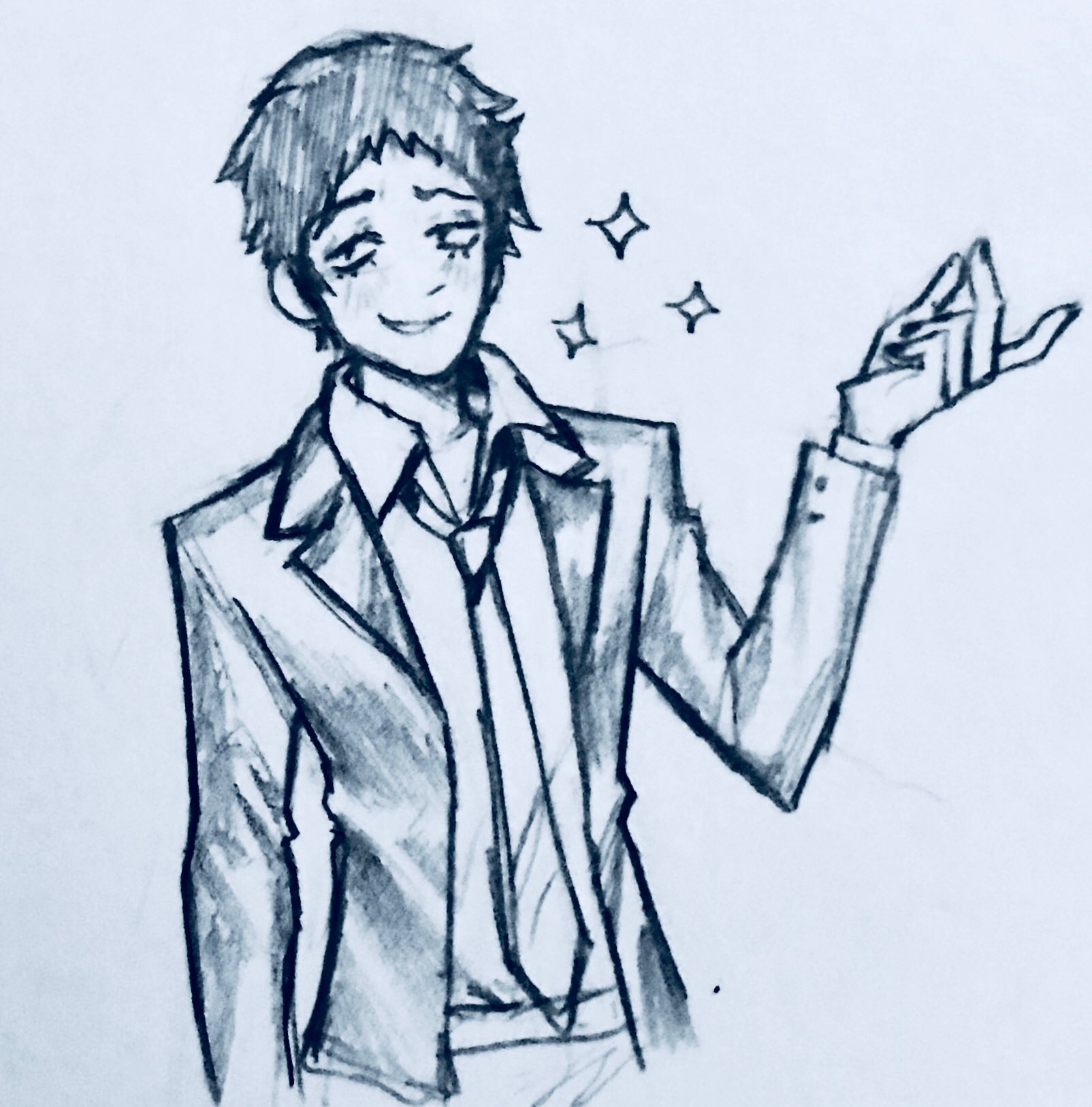 I wanted to draw dojima but I ended up just sketching the garbage man https://t.co/q6yIGD7jIl