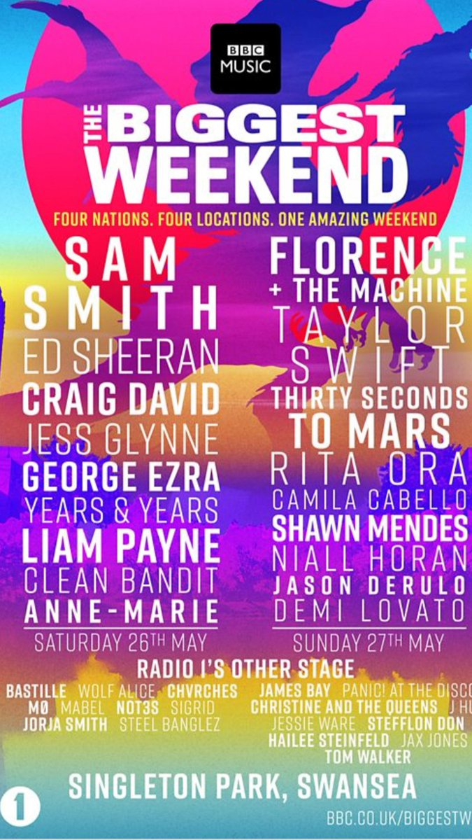 bbc radio 1 big weekend swansea